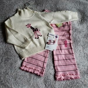 NWT Vintage Gymboree Giraffe Outfit Lot 2t